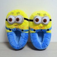 Wholesale Despicable Me Minions Slipper Plush Stuffed Slippers Cuddly Fluffy Collectible Jorge Dave Stewart inch