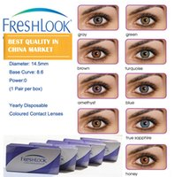 Wholesale 1pair Freshlook colors mixed PRODUCED BY KOREA FACTORY years experiences color contact lenses