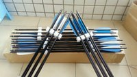 Wholesale 12 pieces high quality crossbow bolts inches aluminum arrows for crossbow hunting with quot arrow vane