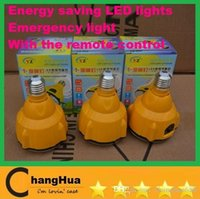 Wholesale HOT SELL Rechargeable Emergency LED Light E27 V K Modes Bulb LED Lamp Remote Control SL DHL FREE