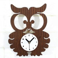 animated owls - Cute cartoon animated kids wall clock owl for home decoration children on the wall living room