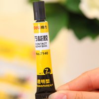 Wholesale 24 Super glue Contact adhesive for wood leather paper office material school supplies novelty households
