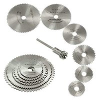 Wholesale 6pcs Applied HSS Rotary Tool Circular Saw Blades Cutting Discs Mandrel Set Cool