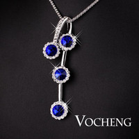 Wholesale Sweater Chain Multicolor White Gold plated Colors Rhinestone Vf Vocheng Jewelry