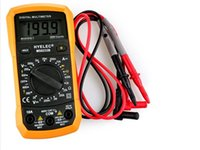 Wholesale HYELEC MS8233B Multifunction Mini Digital Multimeter Counts AC DCV DCA Ohm Diode hFE Data Hold Backlight
