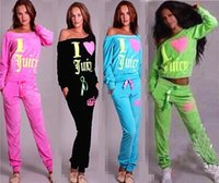 womens velour tracksuits - Hoodies hot sale women hoodies sweatshirts suits sexy strapless velour tracksuit womens LOVE print long sleeve sport sweat suit set