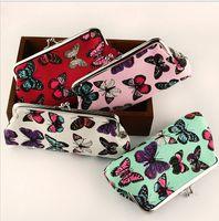 Wholesale Women Girls Purse High Quality New Brand Butterfly Print Change Bag Korean Fashion Long Female Handbag Wallet Creative Student Storage Bags