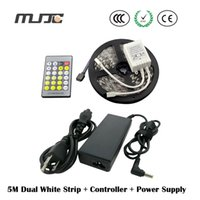 SMD 5050 in one pc - Newest M smd5050 strip led White and Warm White in one chip Dual Color LED Stripe IR Controller W power supply V