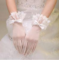 Cheap New Three-dimensional car bone lace gloves Show thin elastic mesh marriage wedding dress short dress gloves