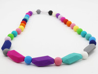 Wholesale NEW ARRIVAL Handmade Silicone Baby Teething Necklace MIX COLORS