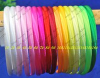 Wholesale Top mm Candy Color Plastic Headbands Baby Hair Accessories Satin Ribbon Hairband Colorful Headbands for Girl ds211