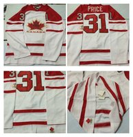 Cheap Mens #31 Price White 2010 Canada Team Vancouver Winter Olympic Hockey Jerseys Ice International Sports Stitched Premier Authentic Sports