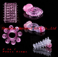 Wholesale 5 Different Penis Rings Vibrating Rings Cock Rings Sex ring Sex Toy Sex products Adult toy