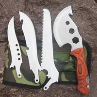 ax functional - Outdoor Multi functional tool set camping hiking ax hunting climbing saws knife garden work combination tools survival kit