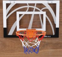 Wholesale US Stock Promotion Hot Children Sport Toys Indoor Mini Basketball Hoop Net Backboard Rim Ball Pum