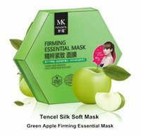 apple facial mask - Box Korea Tencel Facial Mask Green Apple Essential Firming Silk Mask Anti Aging Hydrating Moist with Honey amp Keratin