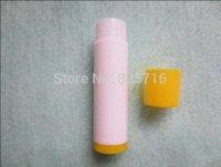 Wholesale 100PCS ML Empty Lipstick Tube White yellow cap Makeup Lip Gloss Container Sample Cosmetic Lip Balm Sub bottling HZ17 lip balm
