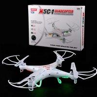 SYMA origine x5C-1 Caméra Drone 2.4G 4CH 6-Axis à distance d'hélicoptère de contrôle RC aérienne Quadcopter Drone w / batterie 2MP caméra TF carte de 2 Go