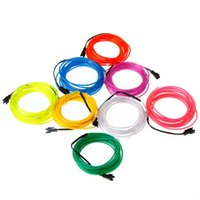 Wholesale US Stock To USA CA Amazing Colors Flexible Neon Light EL Wire M Rope EL Wire Tube with Controller order lt no track