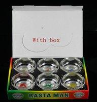ashtray - 2015New ashtray rasta man glass ashtray Christmas shop brand D K mix color free delivery