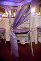 Cheap 2015 Ivory Chair Sash for Weddings with Crystals Satin Lilac Delicate Wedding Decorations Chair Covers Chair Sashes Wedding Accessories