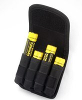 Wholesale handmade high quality nylon pouch for cylinderical battery battery pouch cheap price Black