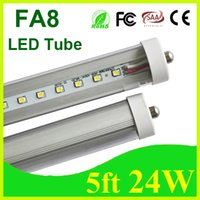 T8 24W SMD 2835 Led Tube Lights 24W 5ft Single Pin FA8 1.5m 1500mm SMD 2835 Fluorescent Tubes replacement Warm Natural Cool White