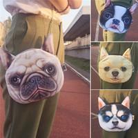 Wholesale Top Seller Unisex Creative D Puppies Face Mini Shoulder Crossbody Bag Handbag Polyester Chain Cute Fashion CM EG85