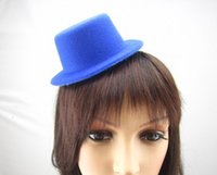 fascinator base - 15 colors quot Solid Felt Mini Top Hat Fascinator base Women Millinery Party Hat