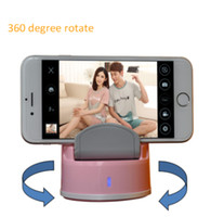 Wholesale 2015 Selfie Robot Auto face tracking multi mode degree rotate take picture free portable selfie robot for Android iPhone DHL Fre
