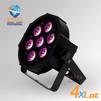 110V auto leds lights - 4X Freeshipping ADJ W in1 Quad LEDs RGBA RGBW Mega Quadpar Profile DMX Par can american stage light