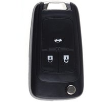 aveo key - 3 Button Folding Remote Key Fob Case Shell Uncut For Chevrolet Cruze Aveo VE880 W0
