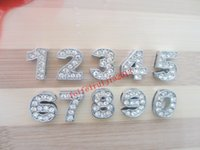 Wholesale 10 mm slide number DIY license plate number jewelry charms