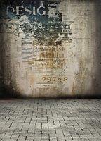 200CM * 150CM Стены окрашены хаосом Кирпичный пол фотографии фонов виниловые фотографии фон