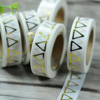adhesive foil paper - 1pc Metallic Gold Foil Printing Washi Tape Scrapbooking Craft DIY paper Sticky Adhesive Sticker Decorative Paper Masking Tape