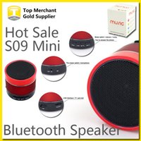 beatbox portable - S09 Mini Speaker LED Light Ring Super Bass Metal Portable BeatBox Hi Fi Wireless Bluetooth Handfree Mic Stereo Speakers Music Player
