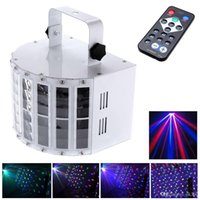 Wholesale 6 Channel RGBW Dmx512 Stage Lighting Effect Voice activated Voice control Automatic Control LED Laser Projector DJ Home KTV Disco lighting