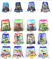 backpacks wholesale prices - besrt price backpack for kids Super Mario ninja turtles frozen TMNT DOC despicable me spider man how to train TURTLES string school bag D240