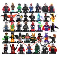 Wholesale Hot New Year Gift High Quality Mini Figure avengers super hero ironman batman Building Blocks toys birthday gift