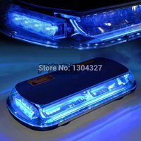 Wholesale 44W Blue Flashing Warning LED Emergency Warning Flashing LED Top Roof Strobe Light