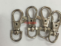 Wholesale cm Key Rings Lobster Clasps Swivel Trigger Clips Snap Hooks Keychain Key Ring