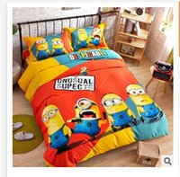 Wholesale 2015 baby bedding set Despicable Me bed seting cotton Mickey minnie kids cartoon bedding set for children kids bedding R913