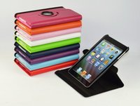 Wholesale Top quality Rotate Pu Leather Stand Smart Case Cover For inch iPad mini Case Flip Wake Sleep colorful