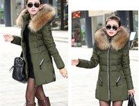 Wholesale New Winter Women Jacket Coat Thicken Slim Female Fur Collar Long Down Coat Casual Parka Plus Size XL