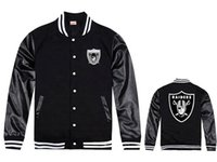 Wholesale 2016 new fashion men winter jackets coats raiders varsity baseball jacket leather sleeve hip hop jacket