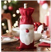 Indoor Christmas Decoration christmas decorations - 33X18CM Santa Claus Christmas gift bag Xmas Red wine bottle bag Christmas Decorations Festive Party Supplies