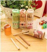 Wholesale DIY NEW Kawaii Cartoon Colorful Gel Pen Cute Beautiful Dot Nib Korean Stationery with Pencil Sharpeners