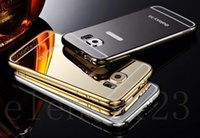 Wholesale New Aluminum Mirror Affect Metal Hard Back Case Cover Skin for Samsung Galaxy S6 S6 Edge