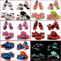 kids kevin durant shoes - 9 Colours With Box New Kevin Durant KD VII Carnival Hyper Jade Volt K Children Boys Kids Basketball Sneakers Trainers Shoes
