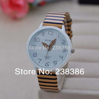 auto stripes - TGJW162 Simple Style Ladies Girls Watch many colors PU Leather Stripe Bright Surface Band Watch Quartz Wrist Watch